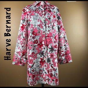 Harve Benard floral rain coat size 12 Like new!